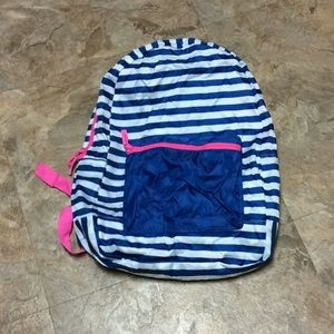 NoBo striped packable backpack NWT!